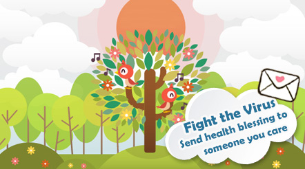 Fight the Virus Send health blessing to someone you care