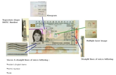 Visible security features on e-Passport data page