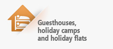 Guesthouses, holiday camps and holiday flats