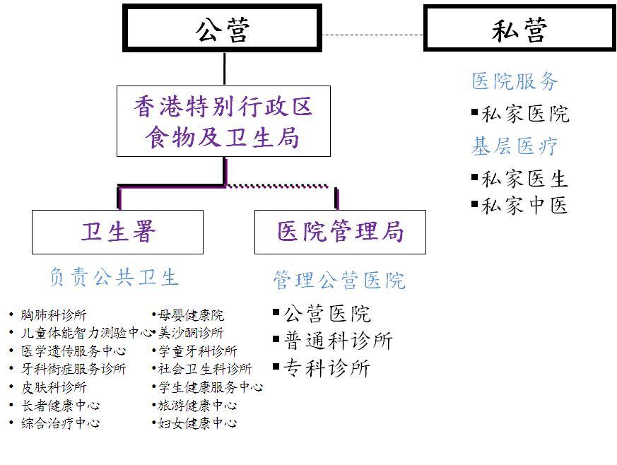 本港的医疗体系架构及有关服务